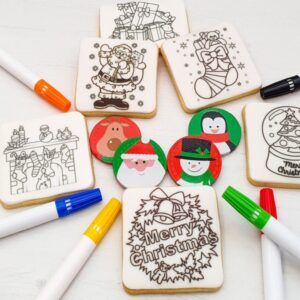 Colouring In Christmas Cookie Packs