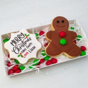 Personalised Christmas Cookie Duo